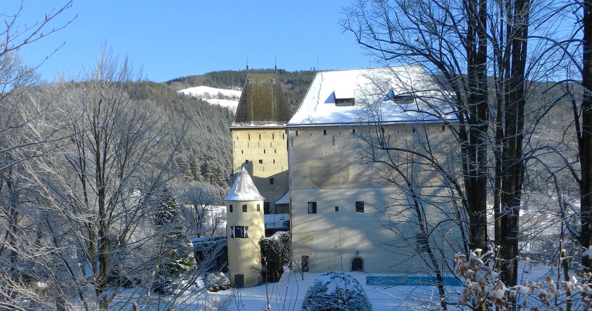 Winterfoto Burg
